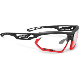 Rudy Project Fotonyk Glasses Matte Black/Red Fluo ImpactX Photochromic 2 Black